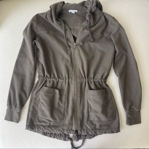 James Perse Cotton Zipper Hoodie Jacket